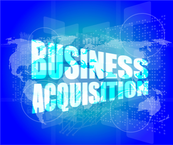 business concept, business acquisition digital touch screen interface